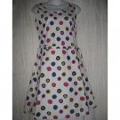 SOLITAIRE Boutique Shapely White Dots Cotton Dress X-Small XS