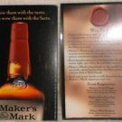 Makers Mark Whisky Bourbon Wax Facts Print Rare New