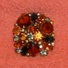Brooch Pin Vintage 2 Inch Beautiful Stones Antique Jewelry