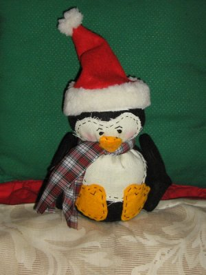 Stuffed Animals - Homespun Penguin - PNG-2102