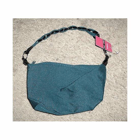 NWT Hunter Green Canvas SASSY CHIC Retro Look Handbag ~~ FREE SHIPPING ~~