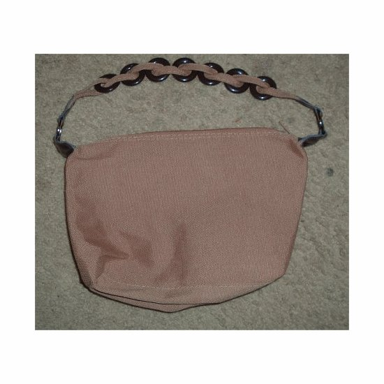 NWT Light Brown Canvas SASSY CHIC Retro Look Handbag ~~ FREE SHIPPING ~~