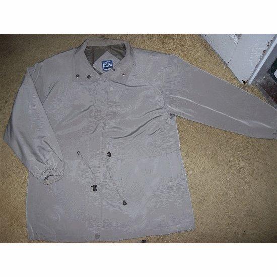 Tan Faux Silk Anorak Jacket by Braetan MEDIUM ~~ FREE SHIPPING ~~