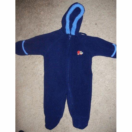 Navy Blue OKIE DOKIE Fleece Snowsuit 3 - 6 months