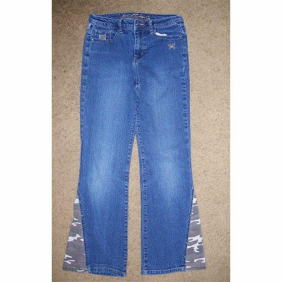 ARIZONA Stretch Denim Jeans with Camouflage Girls 14 Slim