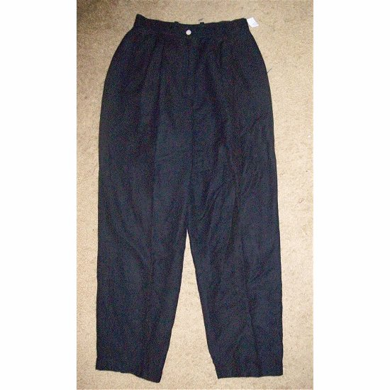 NEW Black ANN TAYLOR Fully Lined Linen Slacks Size 6