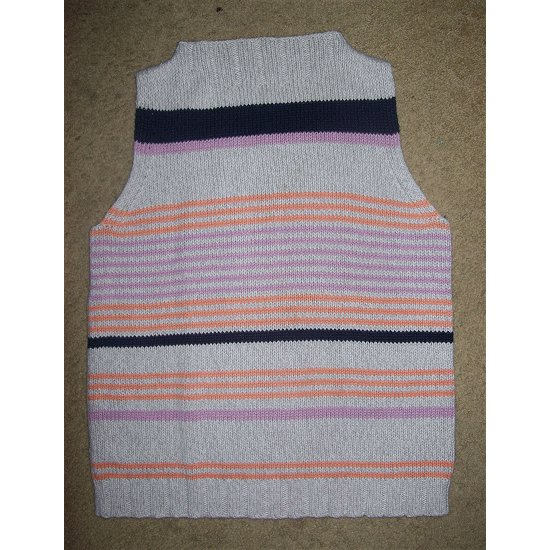 NEW Tan Striped EVAN PICONE Sleeveless Sweater XLARGE