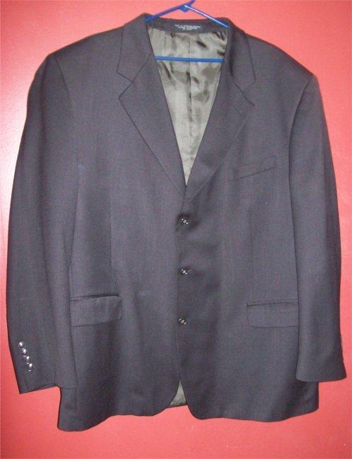 Black ALBERT NIPON Suit Coat Big Mans 50 XL ~~ FREE SHIPPING ~~