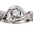 NEW Cubic Zirconia Eternity Ring Silvertone Size 10 1k total weight ~FREE SHIPPING~