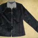 NWOT Black Faux Suede NORTON MCNAUGHTON Jacket Ladies Size 12