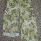 THE CHILDRENS PLACE Green Butterfly Print Convertible Cargo Pants Capris Girls Size 4