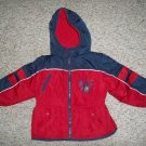 Red and Navy CARTERS Hooded Winter Jacket Parka Boys Size 24 months