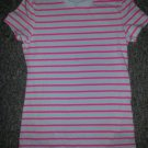 CHEROKEE Pink and White short Sleeved Top M Girls Size 7-8