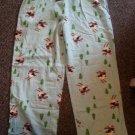ALLISON RHEA Blue Penguin Flannel Sleep Pants Ladies LARGE