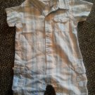 CALVIN KLEIN Blue Plaid Short Romper Boys size 6-9 months