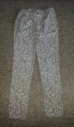 CANDY GIRL Gray Animal Print Stretch Skinny Jeans Girls Size 10