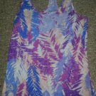 DELiA's Purple Pink and Blue Print Racer Back Tank Top Ladies XSmall