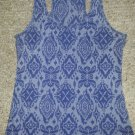 DELiA's Blue Paisley Print Racer Back Tank Top Ladies Small