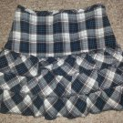 SPEECHLESS Black and Blue Plaid Tiered Skort Small Girls Size 6 6X