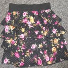 JOE BENBASSET Floral Print Ruffled Boho Layered Skirt Ladies SMALL