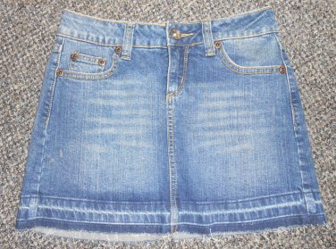 Stretch Denim Mini Skirt Juniors Size 1
