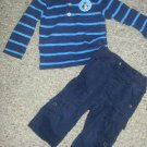 GYMBOREE Navy Convertible pants CARTER'S Navy Striped COOL GUY Polo Boys 12-18 months