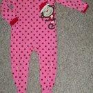 CARTER'S Santa Monkey Fleece Blanket Sleeper Girls Size 3T