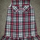 JUST FRIENDS Fully Lined Red and Black Plaid Jumper Dress Girls Size 4