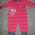 CARTER'S Red and Navy Striped HANDY MAN Romper Boys 6 months
