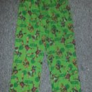 TEENAGE MUTANT NINJA TURTLES Green Flannel Sleep Pants Boys Size L