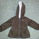 CARTER'S Reversible Brown and Pink Hooded Jacket Girls Size 2T