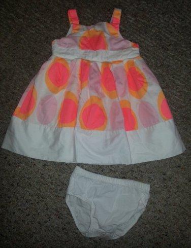 CARTER�S Big Polka Dot Sundress and Panties girls Size 9 months