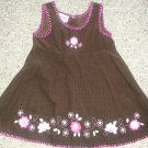 BLUEBERI BOULEVARD Brown Corduroy Jumper Dress Girls Size 24 months