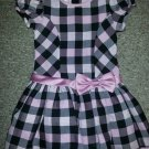 ASHLEY ANN Pink and Black Plaid Fancy Dress Girls Size 4T