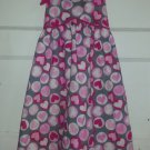 PENELOPE MACK Pink and Gray Heart Print Sundress Girls Size 8