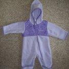 COLUMBIA Purple Fleece One Piece Snowsuit Girls Size 6 months