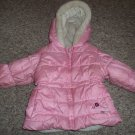 Hooded Pink OSH KOSH Winter Jacket Parka Girls Size 12 months