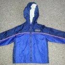 WEATHER TAMER Navy Blue Hooded Nylon Jacket Boys Size 24 months