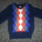 THE CHILDREN'S PLACE Navy Argyle Lightweight Sweater Boys 6-9 months