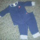 CARTER'S Navy Blue Sailboat Pant Set Boys Size 3 months