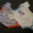 DISNEY Lot of MICKEY MOUSE Short Sleeved Tops Boys 0-3 months