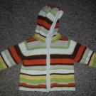 SECOND STEP Striped Hooded Heavyweight Cardigan Sweater Unisex Size 12 months