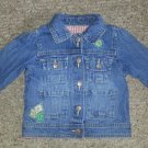 OSH KOSH Patchwork Denim Jacket Girls Size 18 months