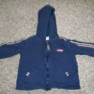 CARTER'S Navy Blue Hooded Zip Front Sweatshirt Boys Size 18 months