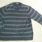 CHEROKEE Black Striped Long Sleeved Pullover Mens Size XL