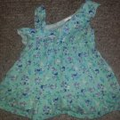 H&T Blue One Shoulder Butterflies and Stars Print Dress Girls Size 12 months