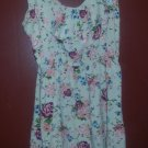 RUE 21 Peach Floral Print Sundress Girls Medium Size 10-12