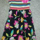 JENNY & ME Striped and Tropical Floral Sundress Girls Size 6