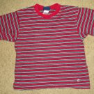 Red and Black Striped OSH KOSH Short Sleeved Top Boys Size 5