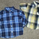 Lot of Plaid Cotton Button Front Shirts Boys Size 18 months